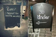 Funny Chalkboard Sign