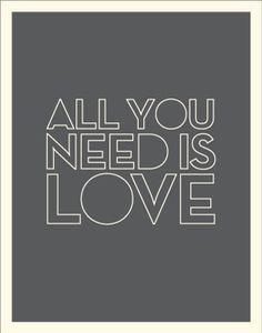 AVintagePoster-LoveLoveLove-AllYouNeedIsLove