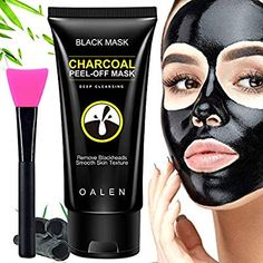 Amazon.com : VossYa Blackhead Remover Mask, Blackhead Peel Off Mask, Bamboo Activated Charcoal Mask, Black Mask Deep Cleaning Facial Mask with Brush 50 ml : Beauty Black Peel Off Mask, Best Peel Off Mask, Black Mask, Activated Charcoal Mask, Charcoal Peel Off Mask, Blackhead Peel Off Mask, Blackhead Remover, Doterra Acne, Charcoal Mask Benefits