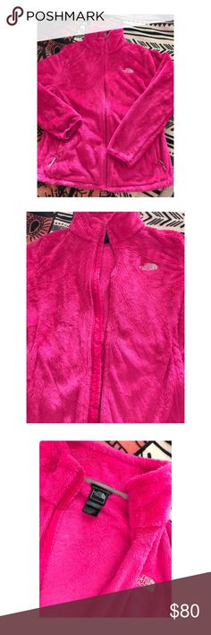 Pink north face jacket 100% authentic! Pre-loved but in excellent Condition! Bright and beautiful pink! The North Face Tops Sweatshirts & Hoodies