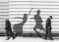 inner music normal walking with dancing shadows.  duet pic?