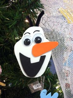 Olaf ornament I created this year. The kids loved it
