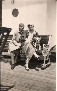 Dog on Ship Deck Vintage  Photo Postcard by photopicker on Etsy, $12.00
