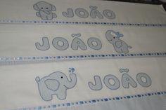 Conjunto de fraldas bordadas á mão!!! Elephant patch handmade cute babyboy
