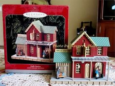 Special 25th Anniversary of Hallmark Keepsake Ornaments     This handcrafted and finely sculptured ornament was designed by artist Don Palmiter. It details a vintage detailed train station. It shows the comings and goings of holiday travelers and complements the Nostalgic Houses and Shops Series    Year: 1973 - 1998