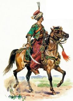 Mameluk gwardii cesarskiej. Rys. Eugene Leliepvre.
