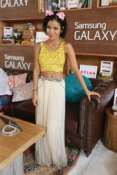 Jhene Aiko looks great in this boho look.