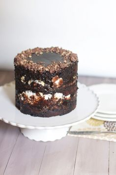 Chocolate Malt Layer Cake via The Baker Chick