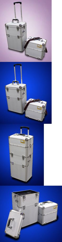 Rolling Makeup Cases: New Mtn 38 2In1 Deluxe Cosmetic Makeup Artist Rolling Aluminum Train Case Box -> BUY IT NOW ONLY: $77.95 on eBay!
