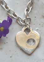 Fingerprint Heart Bracelet. Incorporating your loved one's fingerprint. £65