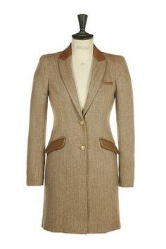Chelsea Coat - Ostrich Skin and Herringbone