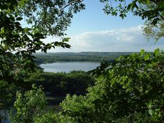 View of a Mississippi River backwater from Barn Bluff at Red Wing, Minnesota