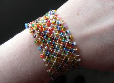 Seed Bead Mesh Bracelets (with tutorial link) - JEWELRY AND TRINKETS
