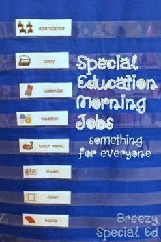 Breezy Special Ed: Our Morning Classroom Routine: Coming in and Classroom Jobs Life Skills Classroom, Teaching Life Skills, Classroom Routines, Teaching Special Education, Classroom Jobs, Teaching Time, Autism Classroom, Classroom Setup, Teaching Strategies