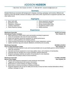 warehouse associate resume example warehouse associate resume example we provide as reference to make correct. Resume Example. Resume CV Cover Letter