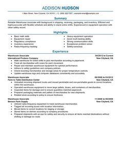 Warehouse Associate Resume Example   Warehouse Associate Resume Example We  Provide As Reference To Make Correct