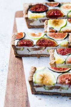 Ginger Fig Tart with Chestnut-Almond Crust