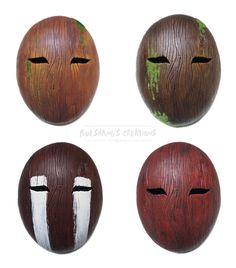 Wooden Masks by Bueshang
