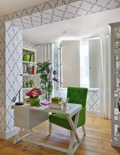 Love the idea of creating a special entryway by using a soffit emphasized with paint or wall covering.