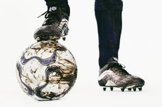 Soccer player's feet in cleats with one resting on a soccer ball Girls Soccer, Play Soccer, Soccer Ball, Soccer Players, Football Team, Old Nikes, Soccer Images, Soccer Practice, Marathon Runners