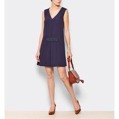 Vestido sin mangas color azul marino