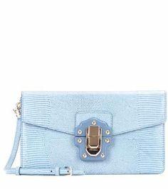Lucia embossed leather shoulder bag   Dolce & Gabbana