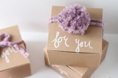 CustomKraftBox.com - Great idea to dress up a blank brown kraft box! Project and Photos by Brittni Mehlhoff