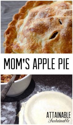 My mom's apple pie recipe is straight off the apple farm, tastes ...
