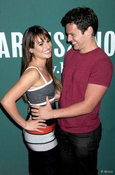 Lea Michele et son meilleur ami Jonathan Groff.