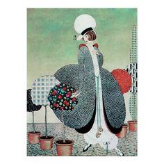 gorgeous vintage art deco posters | Art Deco Fashion Vintage Posters - Zazzle.com.au