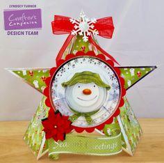 Crafters Companion Snowman/Snowdog Star Card