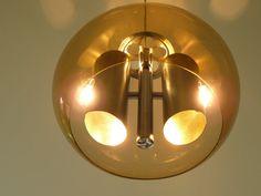 Vintage Herda ceiling lamp Sauze Panton Fog by VintageEuroDesign, $369.00