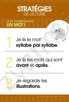 Stratégies de lecture: comprendre un mot Read In French, France, Daily 5, Teaching Reading, Comprehension, Literacy, Teacher Stuff, School, Reading Strategies