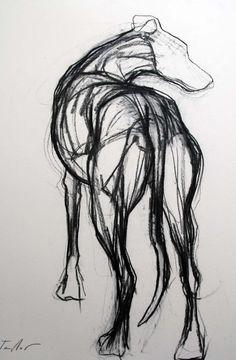 The Rescue 22 Dog Anatomy, Greyhound Art, Grey Hound Dog, Animal Drawings, Dog Drawings, Dog Paintings, Dog Portraits, Horse Art, Life Drawing