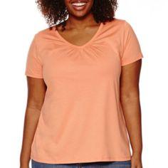 jcp | St. John's Bay® Short-Sleeve V-Neck T-Shirt