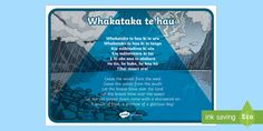 Whakataka Te Hau is a Māori karakia or prayer. This lovely poster is easy to read with both Te Reo Māori and English translation. A4 Poster, Maori Art, Early Childhood Education, Vocabulary, New Zealand, Curriculum, Prayers, English, Display