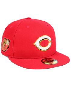 New Era Cincinnati Reds Trophy Patch 59FIFTY Fitted Cap - Red 7 1 4 9ce0491b1d6