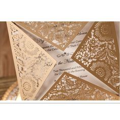 Design Rustic Gold beige Wedding Invitations Laser Cut Invitation Cards With Insert Paper Blank Card Envelope Cricut Wedding Invitations, Laser Cut Invitation, Invitation Card Design, Wedding Invitation Wording, Invitation Cards, Beige Wedding, Card Envelopes, Rustic Design, Blank Cards