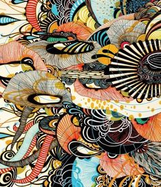 really really complex and colorful layered design Yellena James, Idee Diy, Painting Process, Doodle Art, Altered Art, Art Pictures, Fantasy Art, Art Drawings, Street Art