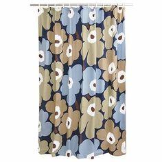 Marimekko Unikko Dusk Cotton Shower Curtain