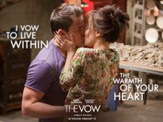 'The Vow' movie quotes (with movie clips) include the best lines from this 2012 romantic drama starring Rachel McAdams and Channing Tatum. In 'The Vow,' McAdams and Tatum are newlyweds Paige and Leo. Channing Tatum, The Vow, Rachel Mcadams Movies, Movie Kisses, Romeo Y Julieta, Movies Worth Watching, Chick Flicks, Entertainment, Vows