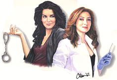 Rizzoli and Isles - Drawing by Live4ArtInLA on @deviantART