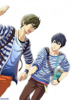 □■ Free! Iwatobi Swim Club □■ Makoto Tachibana & Haruka Nanase ( 橘 真琴) □■