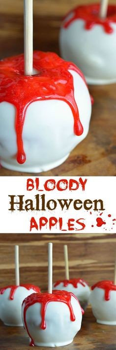 Bloody White Chocolate Apples Treats Recipe
