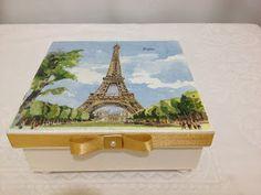 Artesanatos de Arminda Freitas: CAIXAS IMAGENS DE PARIS