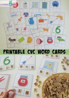 printable cvc word cards - fill-in the missing letters to match the picture. includes 26 cards and part of a cvc activity bundle pack