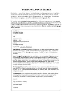 building a cover letter