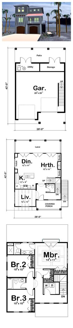 Coastal House Plan 44170