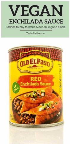 Best Vegan Enchilada Sauce Brands to Find In-Store and Online #veganfood #enchilada #vegan Enchilada Sauce Brands, Best Enchilada Sauce, Types Of Vegans, Vegan Enchiladas, Vegan Options, How To Cook Quinoa, Vegan Lifestyle, Popular Recipes, Food Items