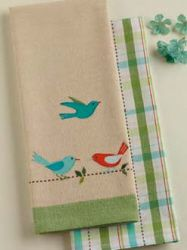 Birds on a line Kitchen Towel Set